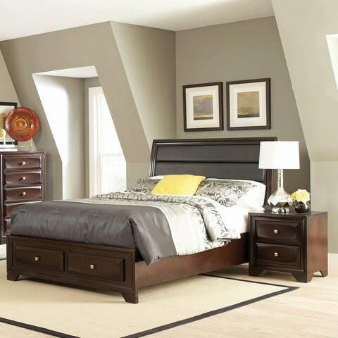 Copper Grove Misisi Cappuccino 3-piece Storage Bedroom Set with 2 Nightstands
