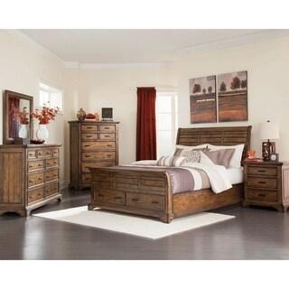 Clydesdale Vintage Bourbon 2-piece Storage Bedroom Set with Nightstand