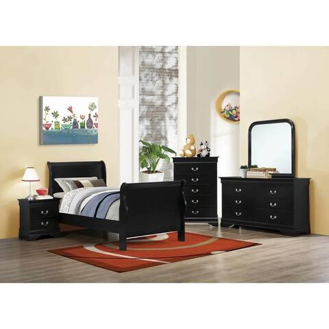 Hilltop 2-piece Sleigh Panel Bedroom Set with Dresser