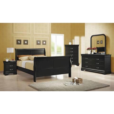 Hilltop 2-piece Sleigh Panel Bedroom Set with Nightstand