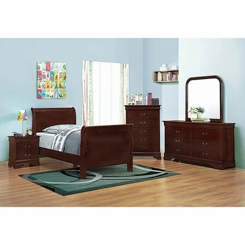 Hilltop 2-piece Sleigh Panel Bedroom Set with Chest