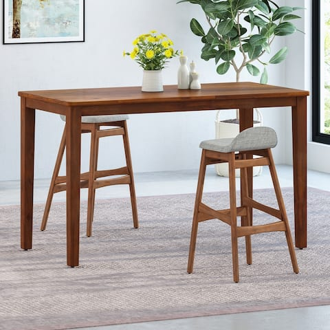 """Vesey Modern Acacia Wood Bar Table by Christopher Knight Home - 64.50"""" L x 37.75"""" W x 42.00"""" H"""