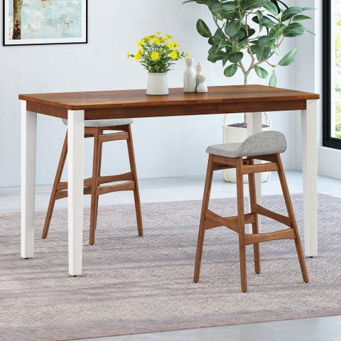 Vesey Farmhouse Acacia Wood Bar Table by Christopher Knight Home