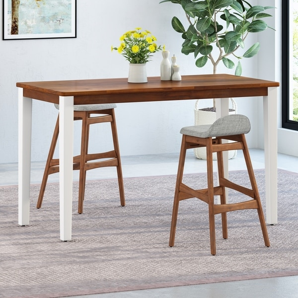 Vesey Farmhouse Acacia Wood Bar Table by Christopher Knight Home. Opens flyout.