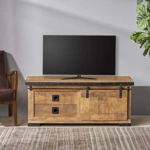 Bradhurst Modern Industrial Mango Wood TV Stand by Christopher Knight Home