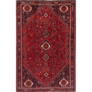 "Shiraz Oriental Tribal Hand Knotted Vinatge Wool Persian Area Rug - 7'10"" x 5'1"""