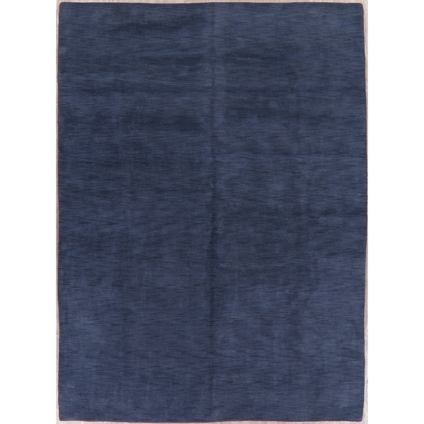 """Gabbeh Solid Modern Oriental Hand Knotted Wool India Area Rug - 11'3"""" x 8'3"""""""