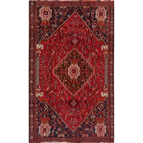 """Abadeh Oriental Tribal Hand Knotted Traditional Wool Persian Area Rug - 8'3"""" x 4'11"""""""