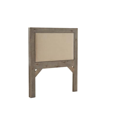 Willow Upholstered Headboard Weathered Gray