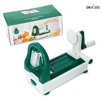 Draizee Strongest and Heaviest Duty Vegetable Spiral Slicer 4-Blade Spiralizer, Vegetable Slicer