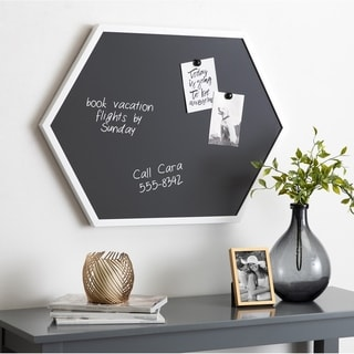 Kate and Laurel Laverty Hexagon Framed Magnetic Chalkboard - 22x31