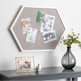 Kate and Laurel Laverty Hexagon Framed Pinboard - 22x31