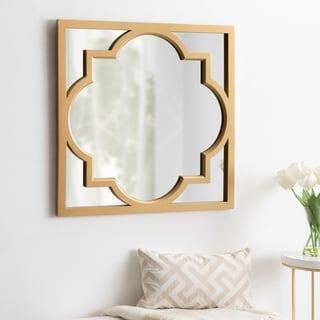 Carson Carrington Salsjon Moroccan Square Framed Mirror - Gold - 30x30