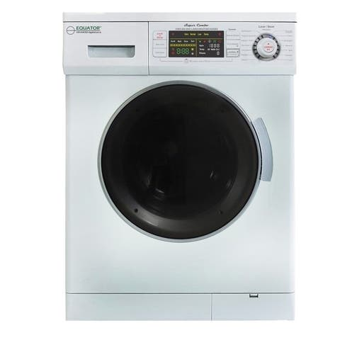 1.57 cu. ft. White High Efficiency Vented / Ventless Electric All-in-One Washer Dryer Combo With Spanish Display