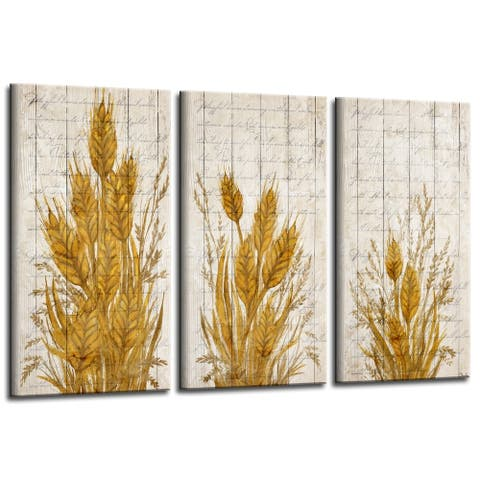 Olivia Rose 'Harvest Wheat' 3-Pc Canvas Fall Wall Art Set