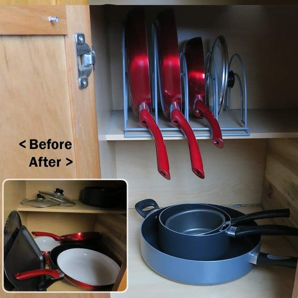 Shop Roll Over Image To Zoom In Evelots Pot Pan Lid Organizer 5