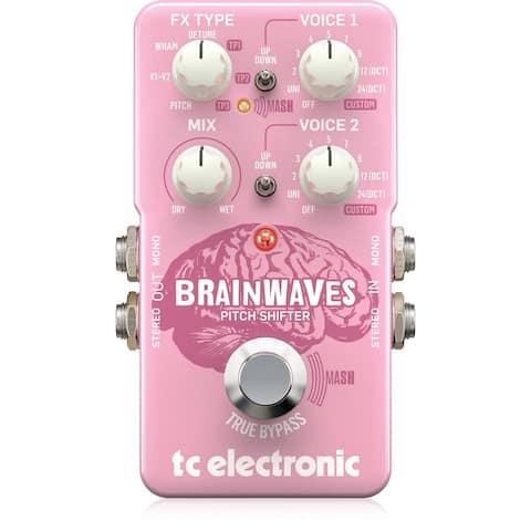 TC Electronic Brainwaves Pitch Shifter Guitar Pedal w/ Studio-Grade Algorithms
