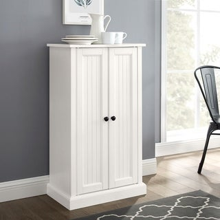 Seaside Accent Cabinet in Distressed White