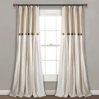 Lush Decor Linen Button Window Curtain Single Panel in Linen (As Is Item)