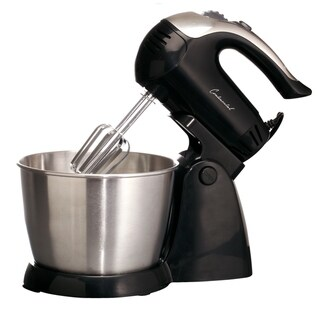Continental Electric 5-Speed Stand Mixer, 3 Quart Bowl, Black
