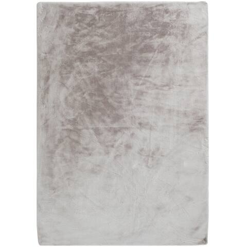 """Faux Cottontail Machine Woven Grey Area Rug - 7'6""""x9'6"""""""