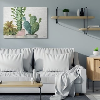 Stupell Industries  Modern Succulents Pattern Green Watercolor Painting,16x20, Proudly Made in USA - Multi-Color