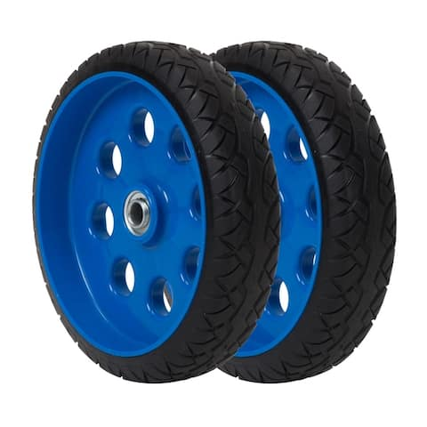 COSCO 10 Inch Low Profile Flat-Free Replacement Wheels for Hand Trucks (2-pack)
