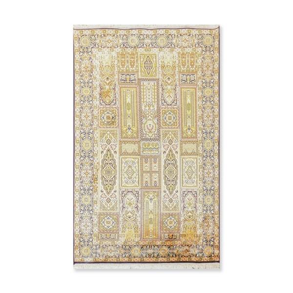 Hand Knotted GhumCertified Silk 340-400 KPSI Persian Oriental Area Rug (3'x5')