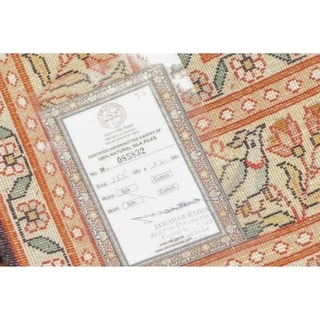 "Hand Knotted Pictorial HuntingCertified Silk 340-400 KPSI Persian Oriental Area Rug (3'x5'1"")"