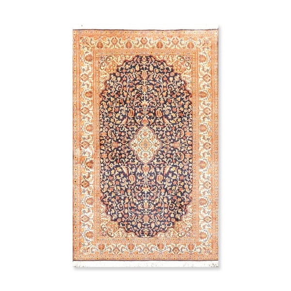 Hand Knotted Certified Silk 340-400 KPSI Persian Oriental Area Rug (3'x5')