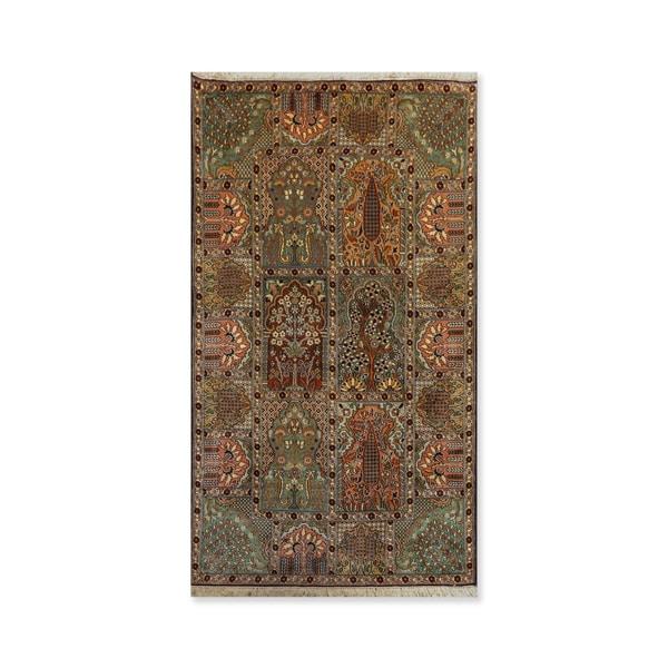 "Hand Knotted HamadanCertified Silk 340-400 KPSI Persian Oriental Rug (3'1""x5'4"")"