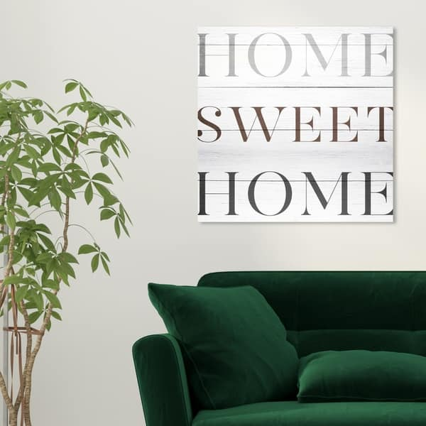 Shop Oliver Gal Home Sweet Home Typography And Quotes Wall Art Canvas Print Brown White Overstock 28701088