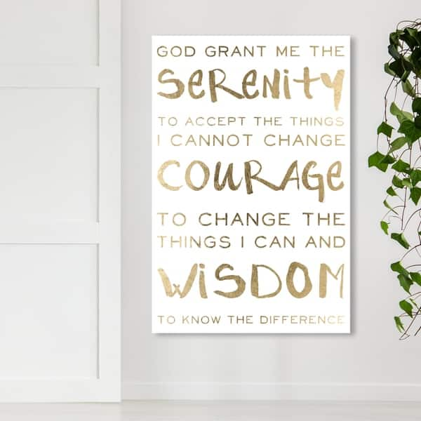 Shop Oliver Gal \'Serenity Prayer\' Typography and Quotes Wall ...