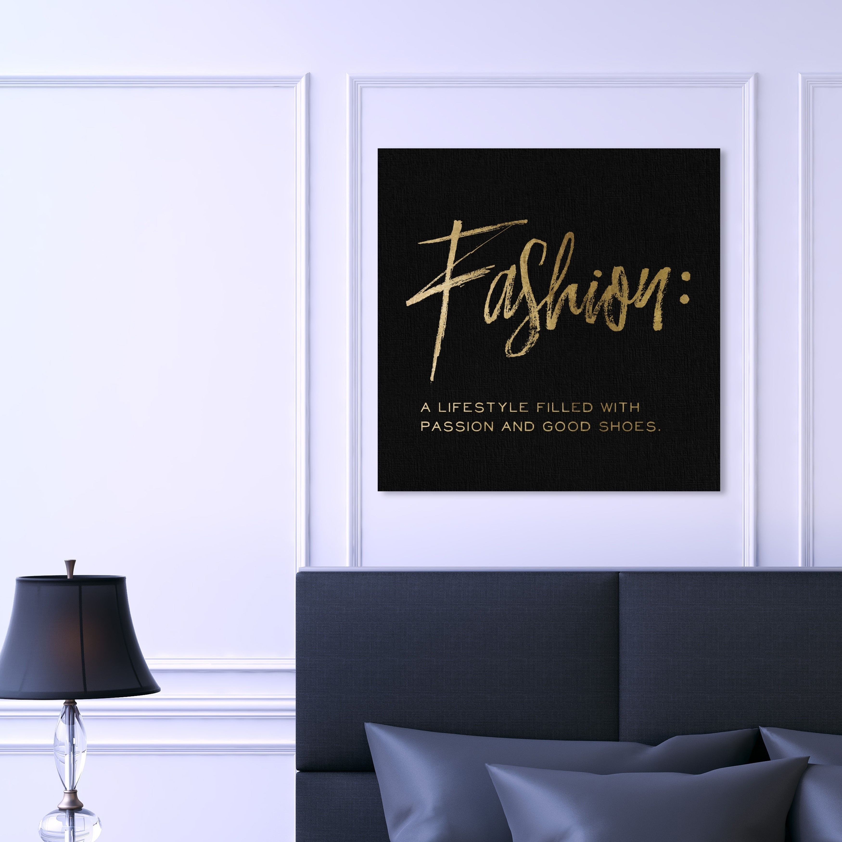Shop Oliver Gal Fashion Definition Noir Simple Fashion And Glam Wall Art Canvas Print Gold Black Overstock 28701179