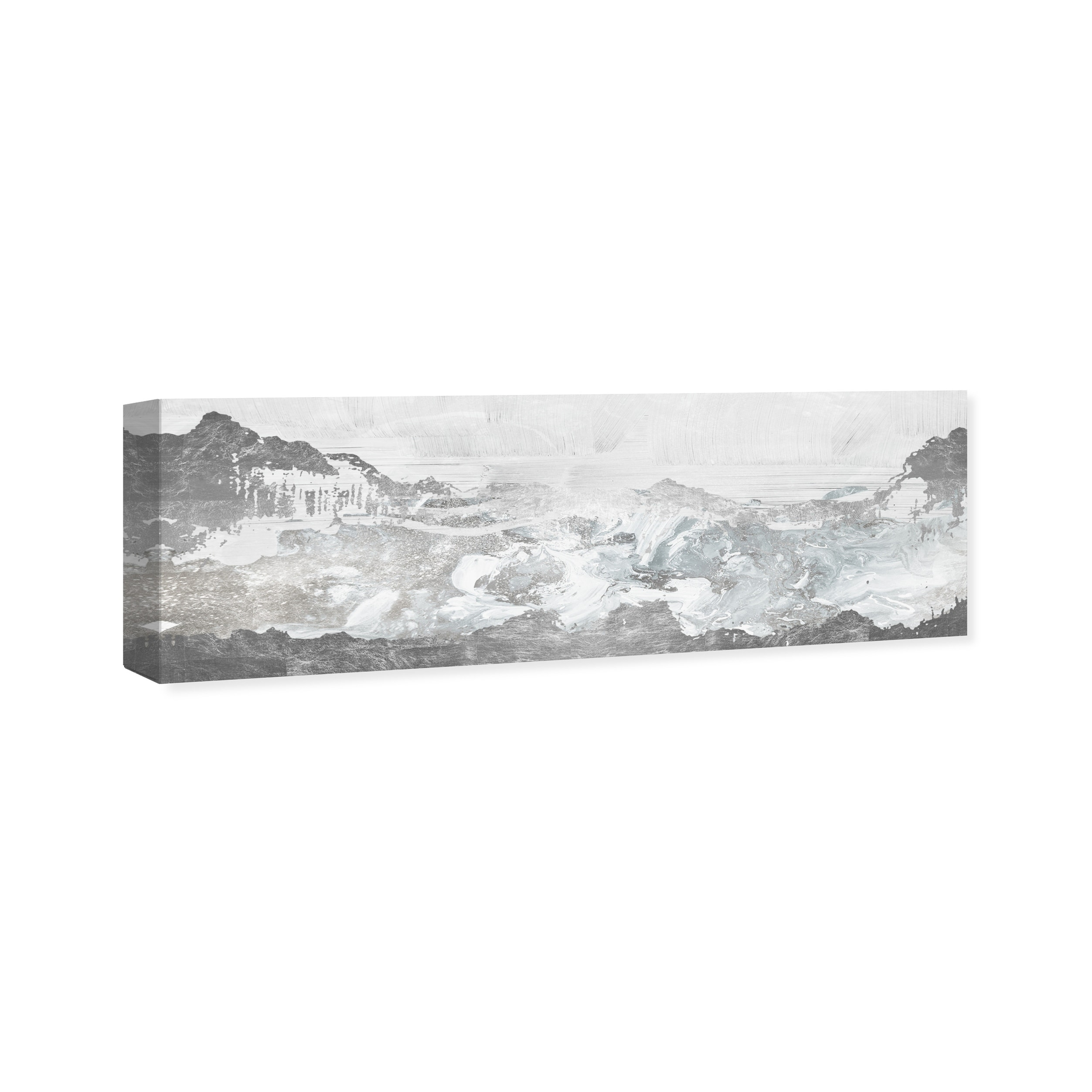 Oliver Gal Inspired Neutral Morning Nature And Landscape Wall Art Canvas Print White Gray Overstock 28701214