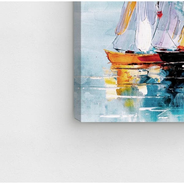 HISTORIC SHIP ILLUSTRATION SEASIDE NAUTICAL ART PRINT Blue Decor Wall Picture