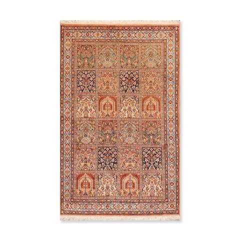 "Hand Knotted HamadanCertified Silk 340-400 KPSI Persian Oriental Area Rug (3'x5'1"")"