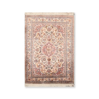 "Hand Knotted Certified Silk 340-400 KPSI Persian Oriental Area Rug (2'1""x3')"