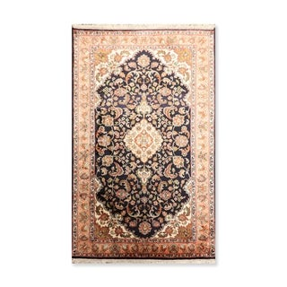 """Hand Knotted Certified Silk 340-400 KPSI Persian Oriental Area Rug (3'2""""x5')"""