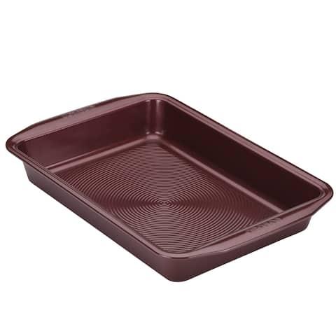 "Circulon Nonstick Bakeware 9"" x 13"" Rectangular Cake Pan, Merlot"
