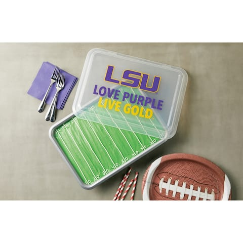 Louisiana State University Covered Nonstick Cake Pan, Gray - Grey