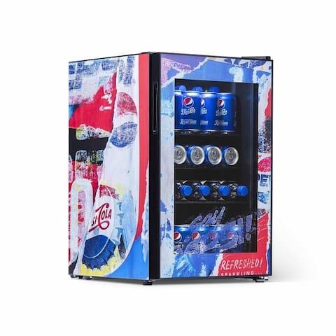 Pepsi Beverage Refrigerator Pepsi Rewind Design 90 Soda Can Fridge PBC0850200
