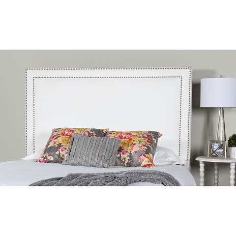 Leffler Home Brookside Upholstered Headboard in Pearl with Nailhead