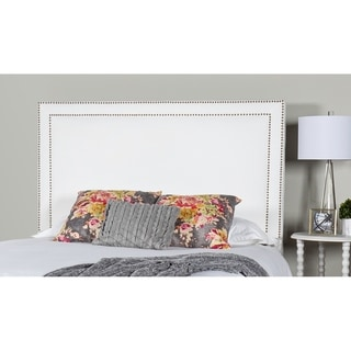 Link to Leffler Home Brookside Upholstered Headboard in Pearl with Nailhead Similar Items in Bedroom Furniture