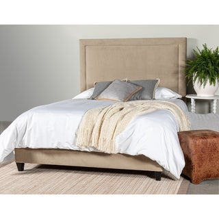 Leffler Home River Queen Upholstered Bed w/ Side Rails and Footboard in Portsmouth Stone