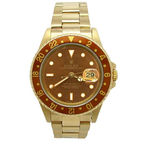 Pre-owned 40mm Rolex 18k Yellow Gold GMT-Master II Watch - N/A - N/A