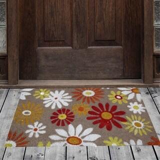 "Porch & Den Homestead Sunflower Floral Multicolored Coir Doormat - 18 x 30"""