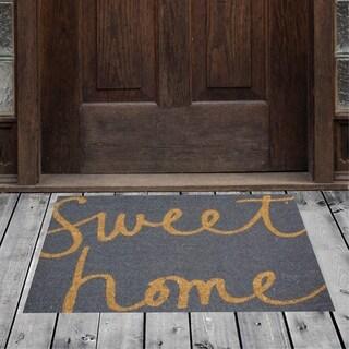 """Porch & Den Homestead Sweet Home Gray/Beige Coir Doormat - 18 x 30"""""""