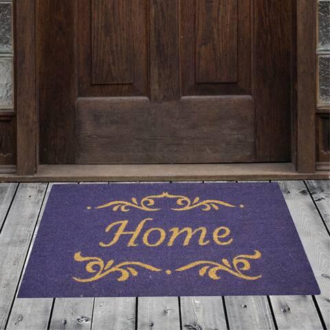 "Porch & Den Homestead Classic Home Purple Coir Doormat - 18 x 30"""