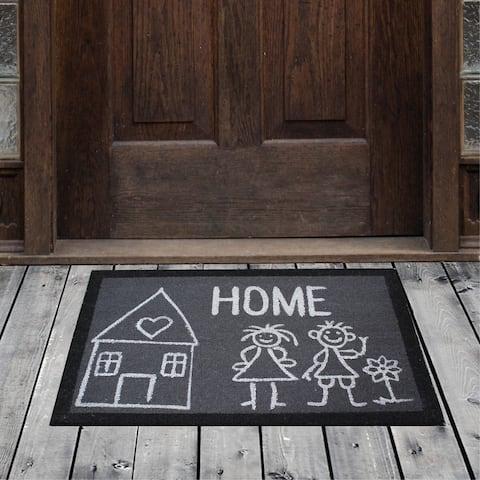 "Porch & Den Homestead Loving Family Home Gray/White Coir Doormat - 20 x 31"""
